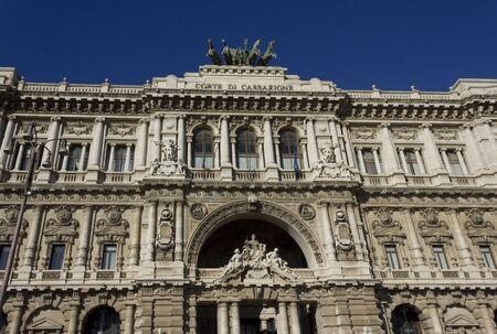 derecho romano: ROMA, ITALIA - 31 de diciembre 2014: Architecturak perder hasta de Palacio de Justicia en Roma, Italia