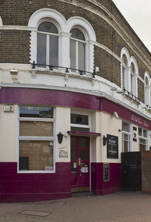periphery: LONDON, UNITED KINGDOM - SEPTEMBER 12 2015: The Bull  pub in London suburbs, Woolwich quartier Editorial