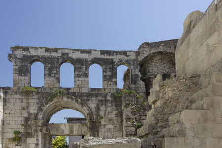 Ancient ruins of Diocletian Palace in Split, Croatia