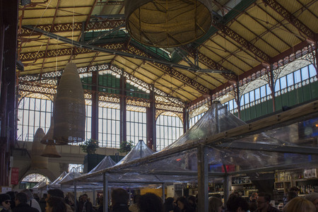 FLORENCE, ITALY - NOVEMBER 22 2015: Mercato Centrale in Florence, arhitectural view