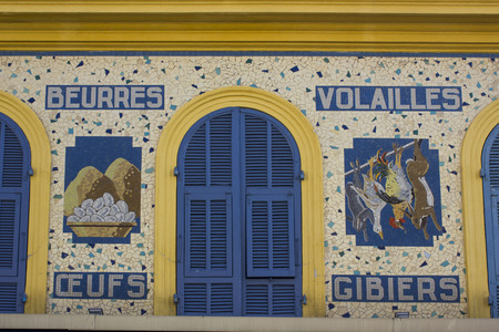NICE - FRANCE, APRIL 22 2017: Wall art detail in Nice, France
