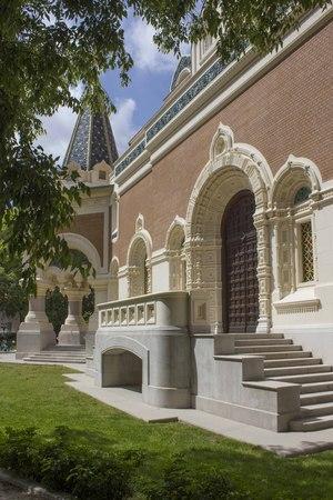 NICE, FRANCE - APRIL 23 2017: doorway of Saint Nicholas Ortodox church in Nice, France