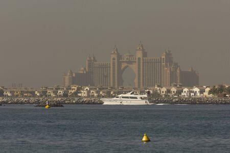 DUBAI, UAE- DECEMBER 29 2017:View from the distance of the Atlantis Hotel in Dubai Archivio Fotografico - 140914214