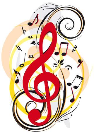 pentagramma musicale: Musica di sottofondo Vettoriali
