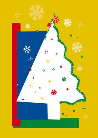 abstract christmas tree Stock Vector - 6990368