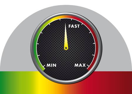 high speed: abstract speed meter icon