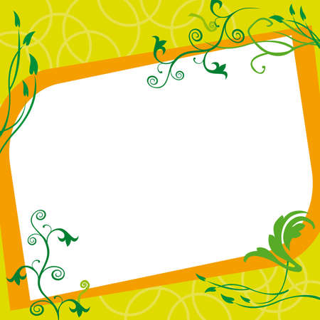 floral photo frame Stock Vector - 15160003