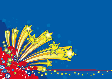 Christmas greetings background with star explosion Vector