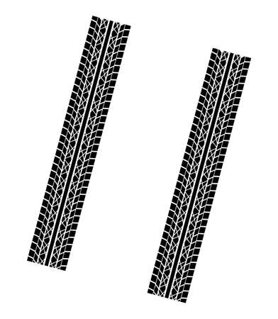 couple tyre imprints Stock Vector - 15163024