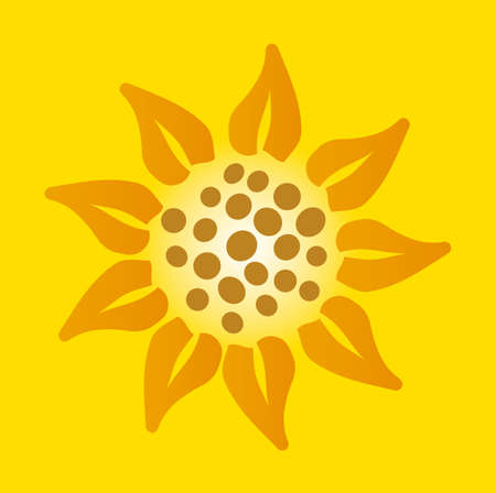 illustration of a sunflower Stock Vector - 15159990