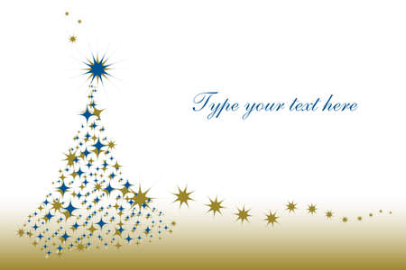 accumulation: Christmas greetings card with starry tree