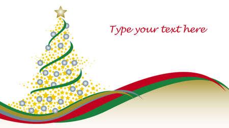星と波とクリスマス ツリー