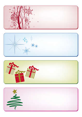 Christmas banners and cards in pastel colors Vector