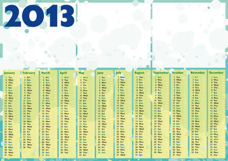 bubbles 2013 happy calendar with blank frame for photos or text Stock Vector - 16060097