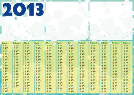 bubbles 2013 happy calendar with blank frame for photos or text Stock Vector - 16060097