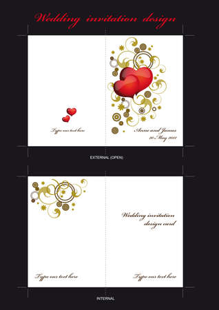 template for wedding invitation card Stock Vector - 18227728