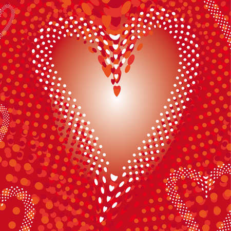 heart explosion abstract background, template for Valentine Stock Vector - 18227762