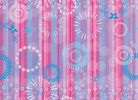 seamless background pattern with lines and wheels Stock Vector - 18227743