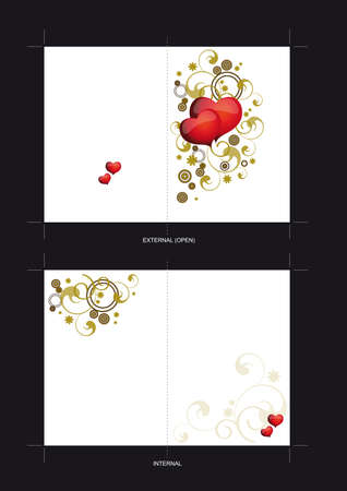 Template for Wedding invitation card design Stock Vector - 18260463