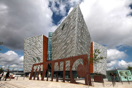northern ireland: Titanic Museum entrance, Belfast, United Kingdom Editorial