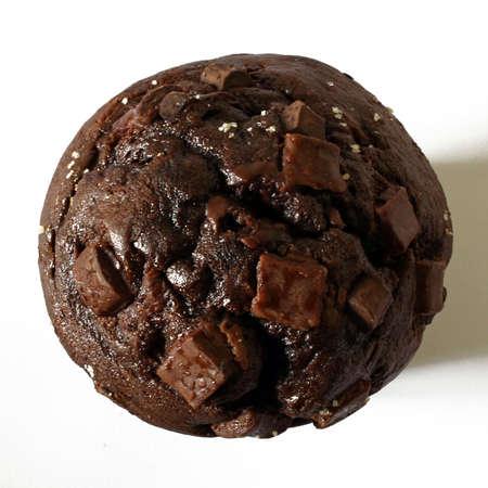 magdalenas: parte superior del bollo de chocolate