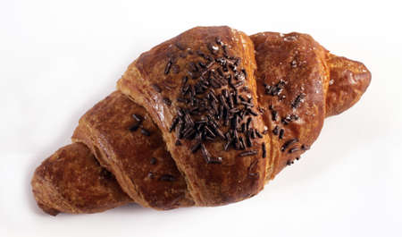 italian croissant for breakfast still-life