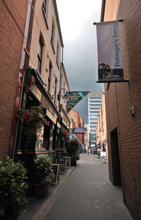 Belfast Pottinger's Entry, typical small streets in historical downtown photo