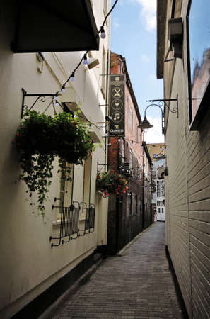 Belfast Entry, typical small streets in historical downtown photo