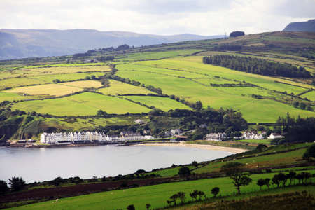 northern ireland: Irish landscape of Antrim Coast in Northern Ireland Stock Photo