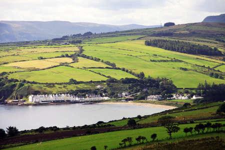 Irish landscape of Antrim Coast in Northern Ireland Standard-Bild