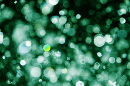 abstract water drops green background