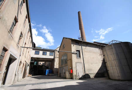 old factory courtyard