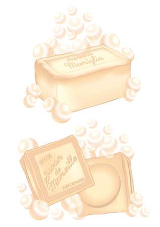 marseille: verschillende marseille zeep bars