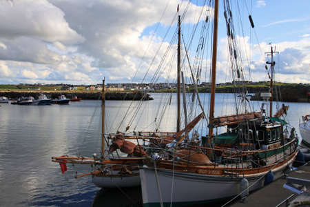 Portrush harbour, northern ireland photo