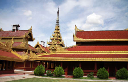 Royal palace courtyard in Mandalay, Myanmar