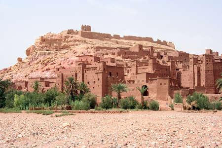 モロッコの ait ベン ハドゥの集落 kasbha