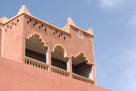 kasbah architecture detail, Morocco