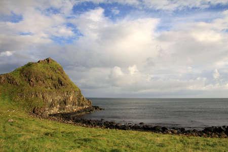 Irish landscape with cape and rocks bay near Giant Stock Photo - 19596224