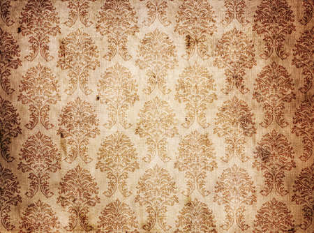 vintage brown background texture canvas old fabric with damask style photo
