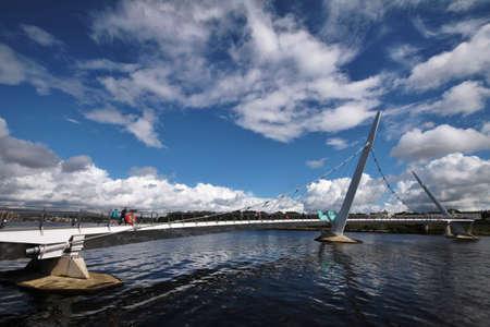 Peace Bridge in Londonderry, Northern Ireland