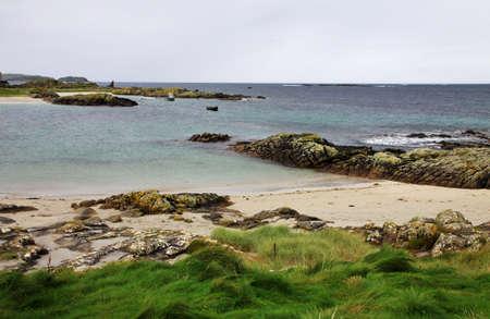 connemara: Connemara coast rainy landscape, Ireland Stock Photo