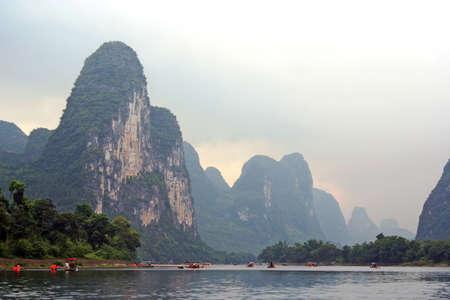 Li river between Guilin and Yangshou, southern China photo