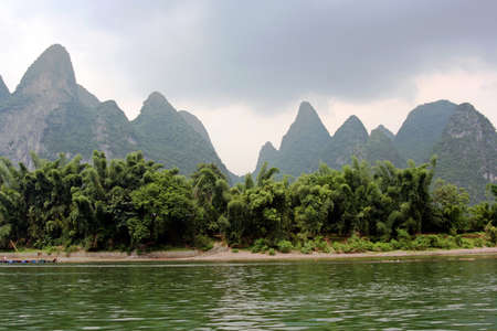 Li river between Guilin and Yangshou, southern China photo