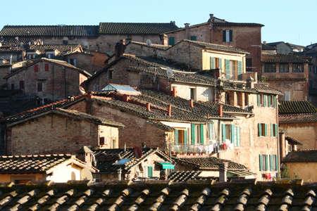 roofs of Siena, Tuscany