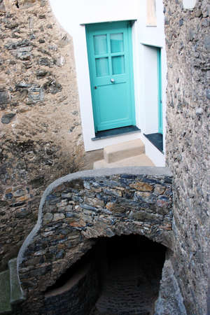 small blue door photo