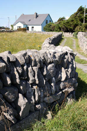 Drywall and wooden house in Inisheer, Aran Islands