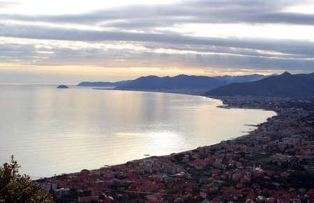 the town of Borgio Verezzi in Liguria, Italy Standard-Bild