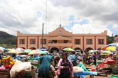 San Juan Chamula、チアパス州, メキシコの市場します。 報道画像