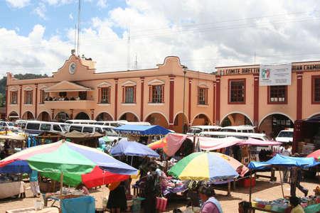 small town: market in San Juan Chamula, Chiapas, Mexico