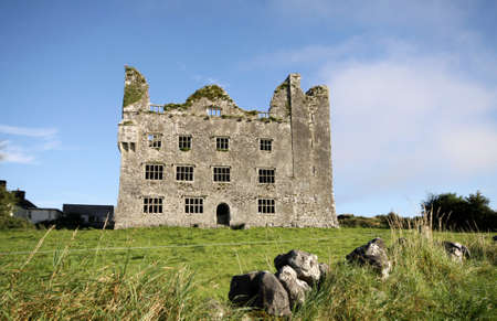 old castle ruins in The Burren, Ireland photo